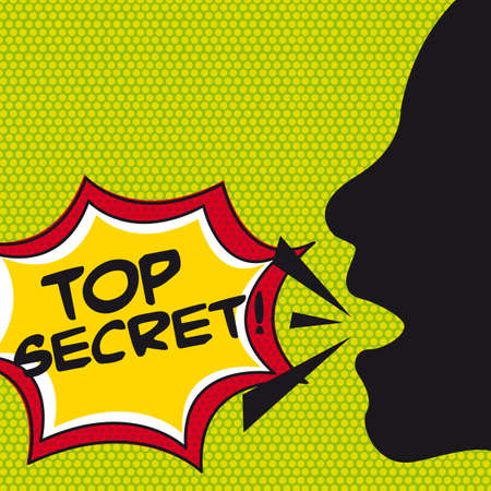 art thinking: top secret esplosione fumetto, pop art. illustrazione