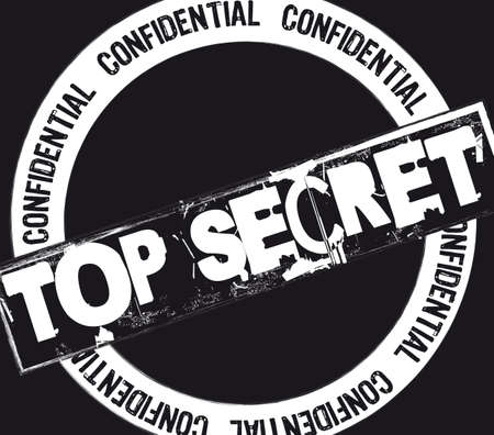 secret password: top secret stamp over black background. illustration