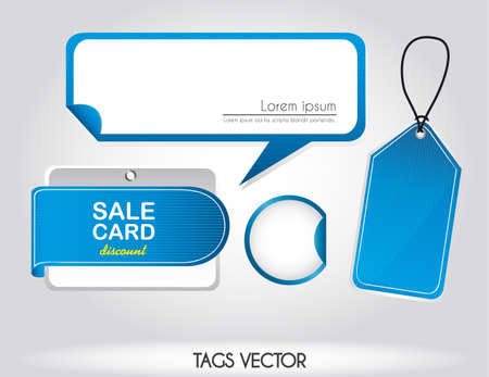 blue tags over silver background, sale. illustration Stock Vector - 12459353
