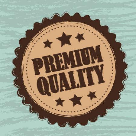 premium quality tag, grunge. vector illustration Vector