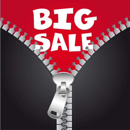 big sale with jacket with zip, background. vector illustration Stock Vector - 12755431