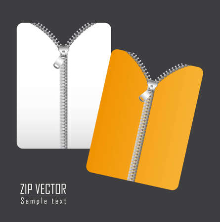 documents with zip over gray background. vector illustration Stock Vector - 12755472
