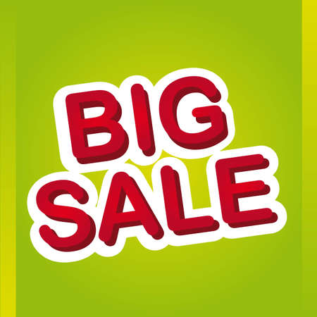 red big sale over green background. vector illustration Stock Vector - 12755464