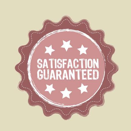 pink satisfaction guaranteed stamp, grunge. vector illustration Vector