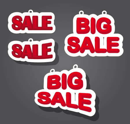 big sale tag over gray background. vector illustration Stock Vector - 12755532