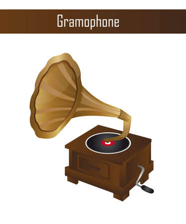 gramophone isolated over white background. vector illustration Stock Vector - 12753584