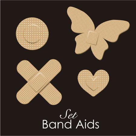 Band aids collectie huidskleur, dierlijke vormen. vector