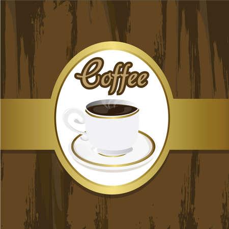 chicchi caff� su sfondo bianco: tazza di caff� su grounge brackground, con i colori marrone e oro