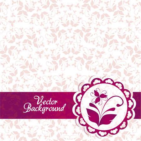 adorn: Rosa y p�rpura fondo vintage ornamento elegante. ilustraci�n vectorial Vectores