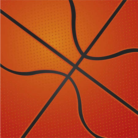 background ball basketball texture in closeup, vector illustration Vector