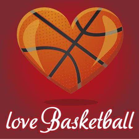 hoops: I love basketball vector illustration effect 3D