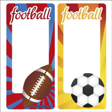 sports cards decorated with balloons and colored stripes Stock Vector - 12756335