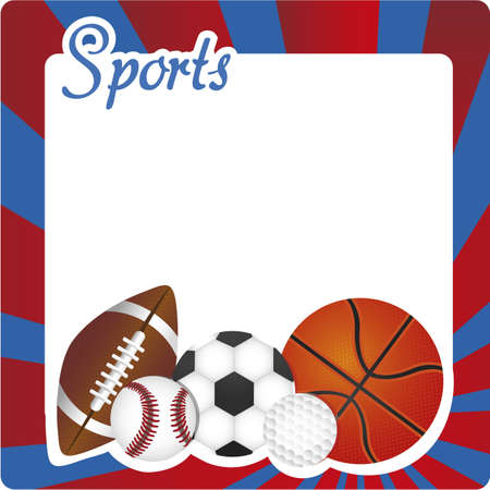 sports background decorated with balloons and colored stripes  Vector