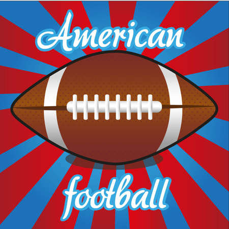 football tackle: american futball ball on color lines, vector illustration