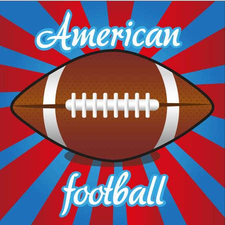 futball: american futball ball on color lines, vector illustration