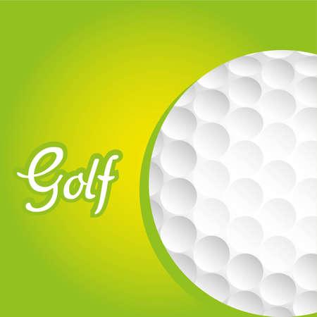 golf ball background over green backgrpund, vector illustration Stock Vector - 12756184