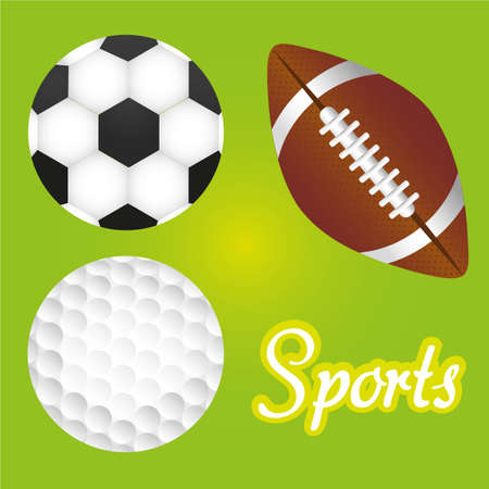 sports balls illustration Vector