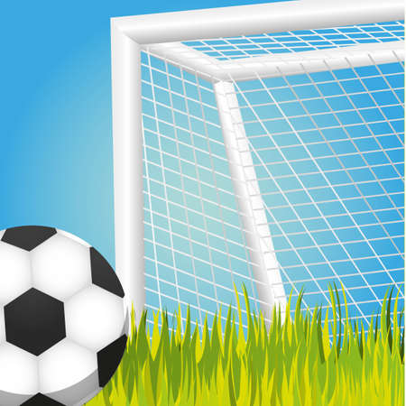 soccer goal: penalty, soccer game vector illustration, backgroun