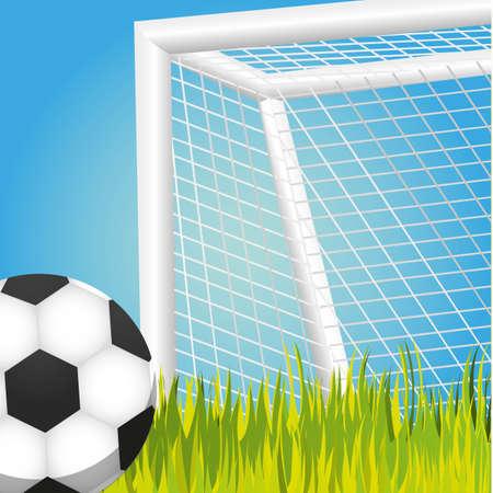 penalty, voetbal spel vector illustratie, backgroun