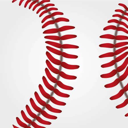 fastball: basseball ball background texture close uo, vector illustration Illustration