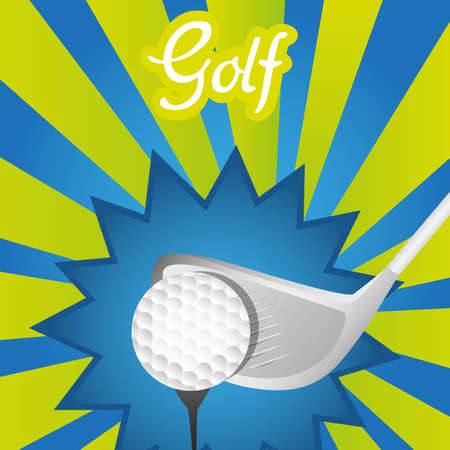 asbtract and colorfull golf background, vector illustration Vector