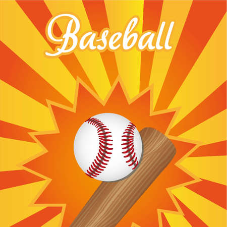 fastball: asbtract and colorfull baseball background, vector illustration