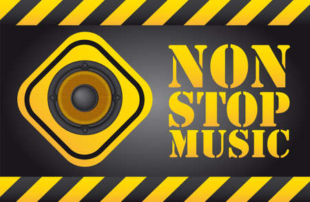 speaker over sign, non stop music background Vector