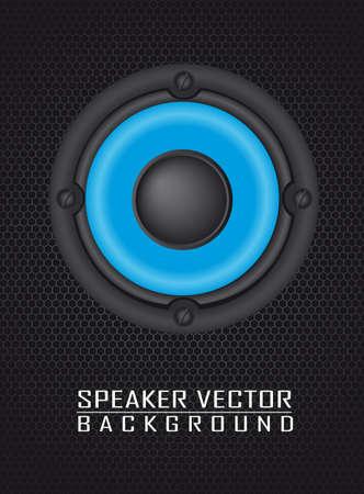 acoustic systems: speaker over speaker grille background