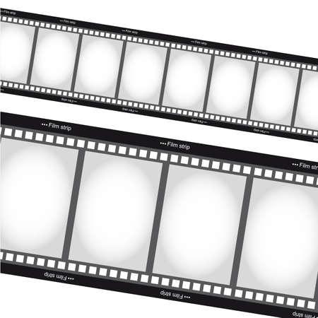 negativity: negative films tripes over white background