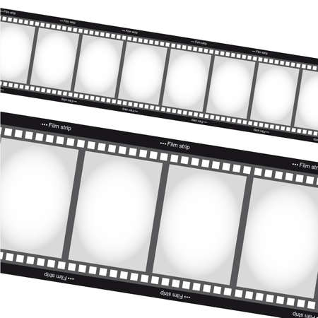 negative films tripes over white background
