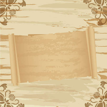 grunge and old paper over vintage background Vector