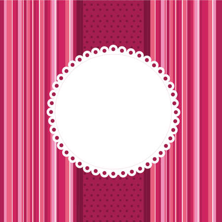 pink border: pink template greeting card with space for copy. vector