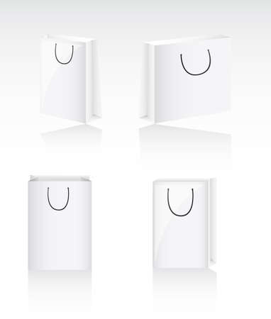 four blank bags with shadow, background. vector illustration Stock Vector - 13032541