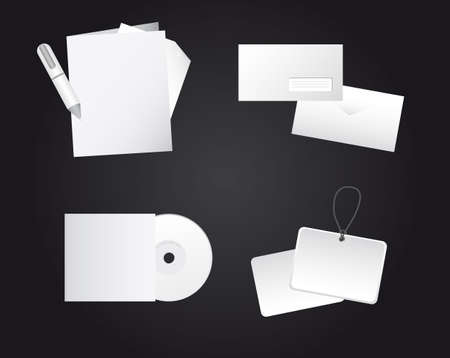 corporate identity templates, blank. vector illutration Vector