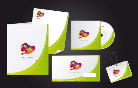 corporate identity templates with logo. vector illustration Vector