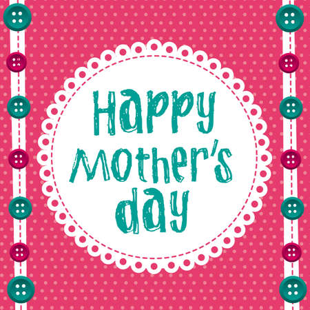 happy mother day over cute background. vector illustration Vector