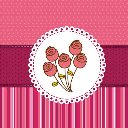 cute roses over cute background. vector illustration Stock Vector - 13032648