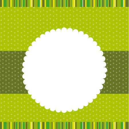 invitation party: green template greeting card background. vector illustration