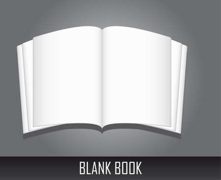blank book over gray background. vector illustration Vector