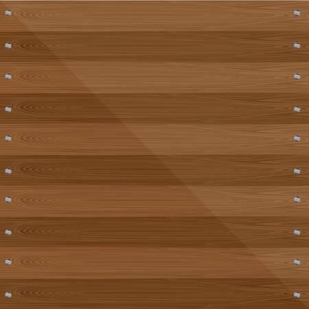 log wall: wooden background with screws. vector illustration