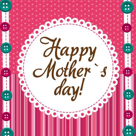 mama: moher day over cute background with buttons. vector