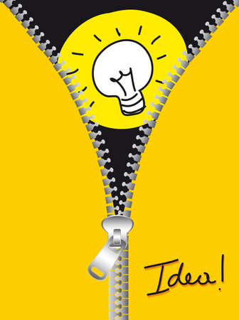 bulb electric with yellow zip background. vector illustration Vector