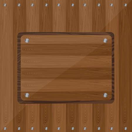 de madera con tornillos de fondo. ilustración vectorial