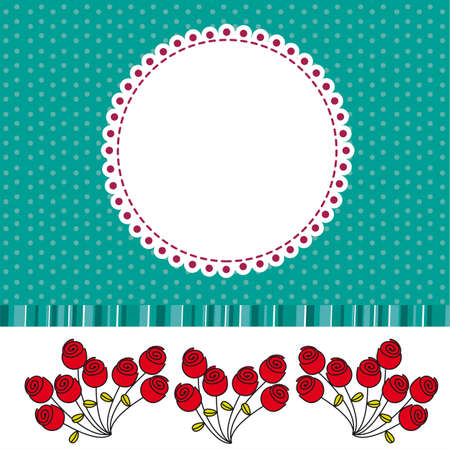 cute background with roses. vector illustration Vector