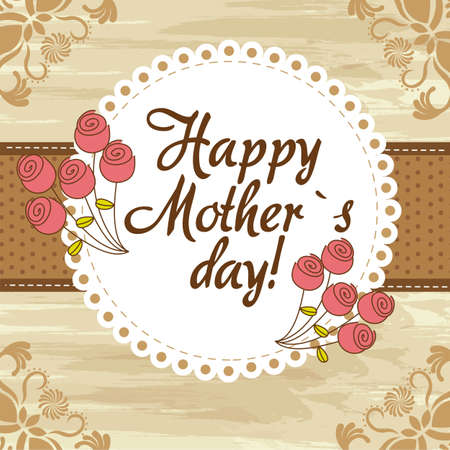 mothers day: happy mother´s day cute background. vector illustration Illustration
