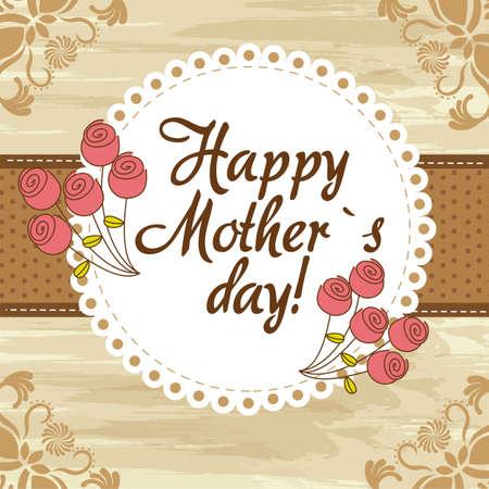 mamans: Happy Mothers Day fond mignon. illustration vectorielle Illustration