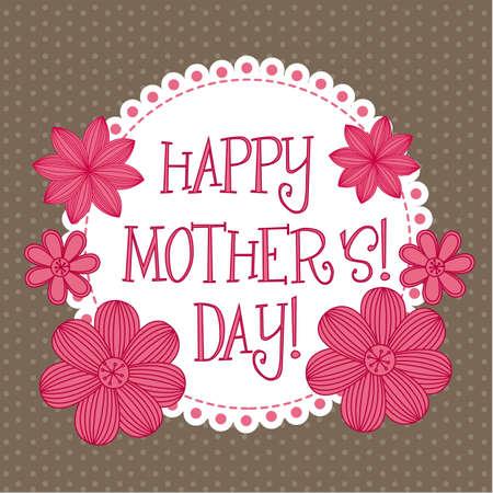 mutter: Happy Mothers Day, niedlich Hintergrund. Vektor-Illustration Illustration