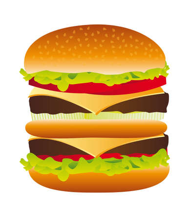 big hamburger isolated over white background. vector illustration Stock Vector - 13216293
