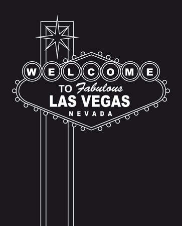 las vegas strip: welcome  to fabulous las vegas nevada sign. vector illlustration
