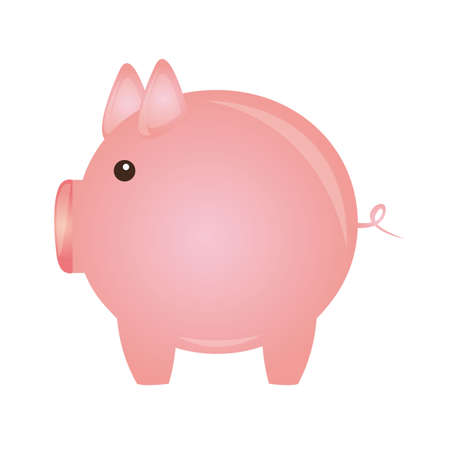 piggy isolated over white background. vector illustration Stock Vector - 13216239